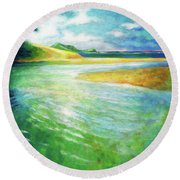 Rivermouth Round Beach Towel