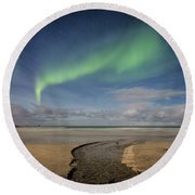 Rivers Round Beach Towel by Alex Conu