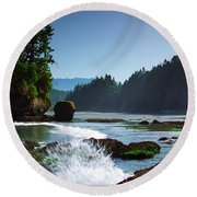 Rivers And Lakes Around Olympic National Park America Round Beach Towel