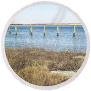 Round Beach Towel featuring the photograph River's Edge by Colleen Kammerer