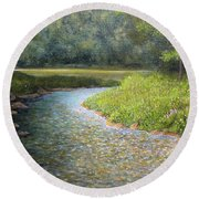 Rivers End Round Beach Towel