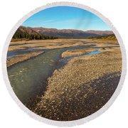 Rivers Of Denali National Park Round Beach Towel