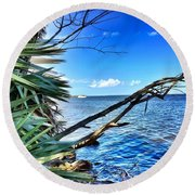 Riverside Round Beach Towel by Carlos Avila