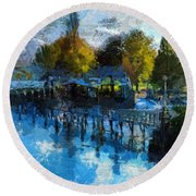 Riverview Round Beach Towel
