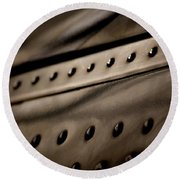 Round Beach Towel featuring the photograph Rivets by Paul Job