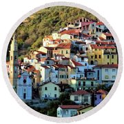 Riviera Village Round Beach Towel