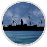 Rms Carpathia 1903 V1 Round Beach Towel