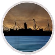 Rms Carpathia 1903 V2 Round Beach Towel