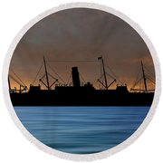 Rms Carpathia 1903 V3 Round Beach Towel