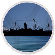 Rms Carpathia 1903 V4 Round Beach Towel