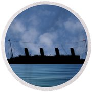 Rms Titantic V1 Round Beach Towel