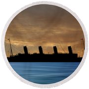 Rms Titantic V2 Round Beach Towel