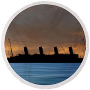 Rms Titantic V3 Round Beach Towel