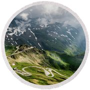 Road Austria Round Beach Towel