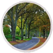 Road In Charlotte Round Beach Towel