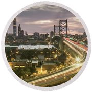 Road To Brotherly Love Round Beach Towel