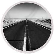 Road To Forever Round Beach Towel by David Cote