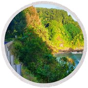 Round Beach Towel featuring the photograph Road To Hana - Hawaii by Michael Rucker
