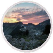 Road To Heather Meadows Round Beach Towel