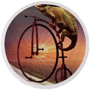 Road To Home Round Beach Towel
