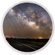 Road To Milky Way Round Beach Towel