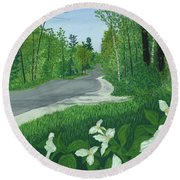 Road To Northport - Spring Round Beach Towel