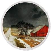 Round Beach Towel featuring the photograph Road To Nowhere by Julie Hamilton