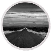 Road To Rio Grand Village Round Beach Towel
