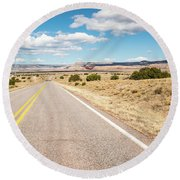 Road To San Ysidro Round Beach Towel