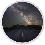 Road To The Heavens Round Beach Towel