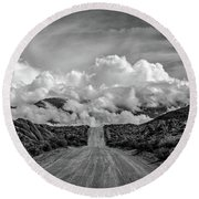 Road To The Sky Round Beach Towel by Peter Tellone