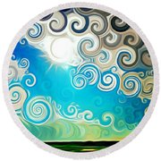 Road To Whimsy Round Beach Towel