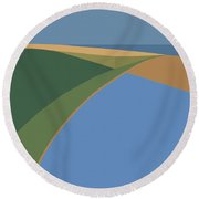 Road Trip Round Beach Towel