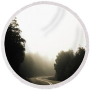 Roads Of Twists And Turns Round Beach Towel