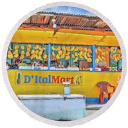 Roadside Vendor Round Beach Towel
