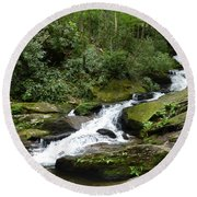 Round Beach Towel featuring the photograph Roaring Fork Falls June 2017 by Joel Deutsch