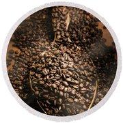 Roasting Coffee Bean Brew Round Beach Towel