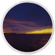 Round Beach Towel featuring the photograph Roatan Sunset by Stephen Anderson