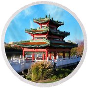 Robert D. Ray Asian Garden Round Beach Towel