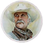 Robert Duvall As Augustus Mccrae In Lonesome Dove Round Beach Towel