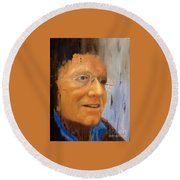 Robert Monk Self Portrait Round Beach Towel