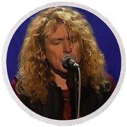Robert Plant 001 Round Beach Towel by Sergey Lukashin