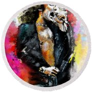 Robert Plant 03 Round Beach Towel