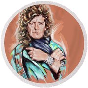 Robert Plant Round Beach Towel
