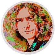Robert Plant Round Beach Towel by Sergey Lukashin