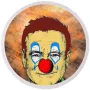 Robin Williams 1 Round Beach Towel