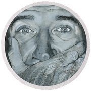 Robin Williams Round Beach Towel