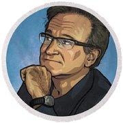 Robin Williams Round Beach Towel