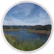 Robinson's Ferry Overlook  Round Beach Towel