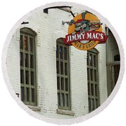 Round Beach Towel featuring the photograph Rochester, New York - Jimmy Mac's Bar 3 by Frank Romeo